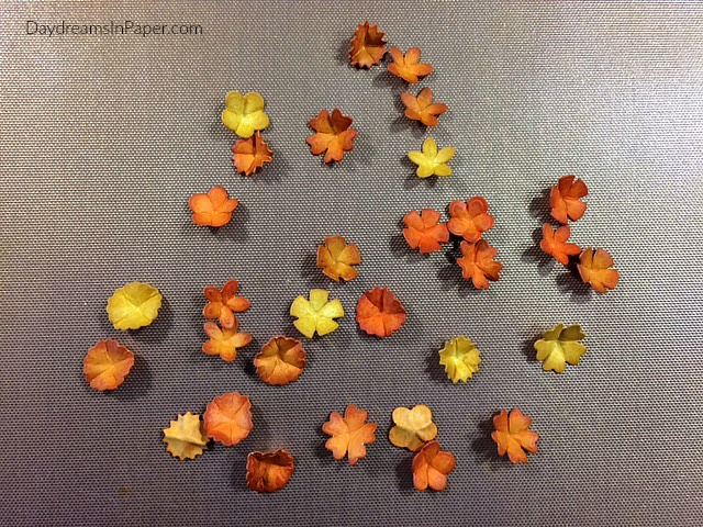 Several Small Paper Posies