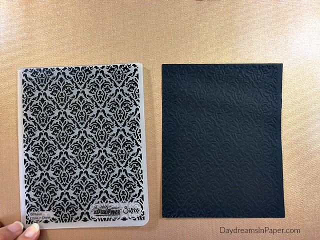 Embossing Folder with Embossed Black Cardstock