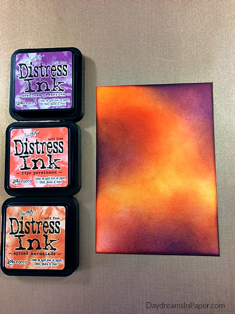 Cardstock inked with Distress Inks
