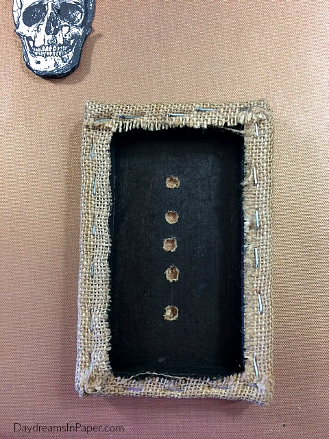 Burlap Panel with Drilled Holes