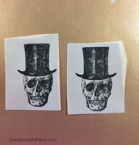 Two Skeleton Images Stamped On Vellum