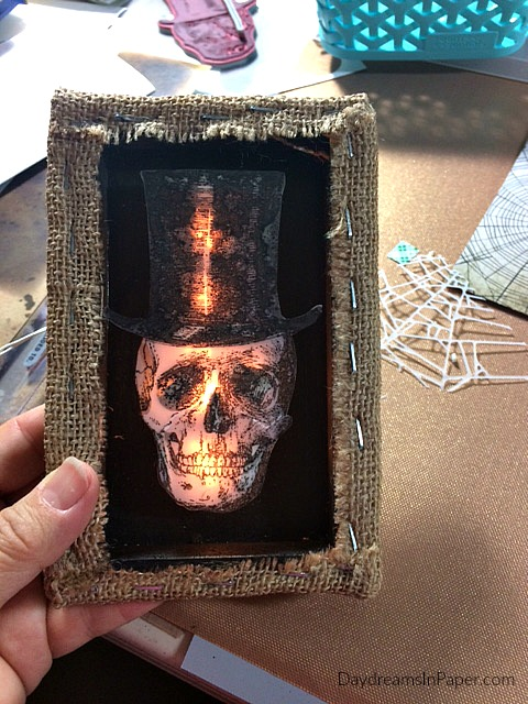 Shadow Box with Glowing Skeleton