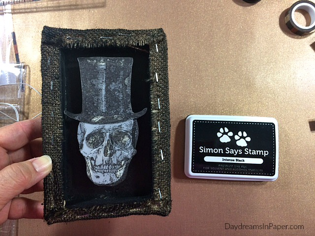 Shadow Box with Skeleton