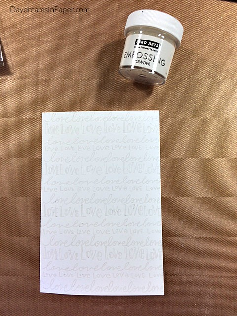 Embossed Stamping on White Cardstock