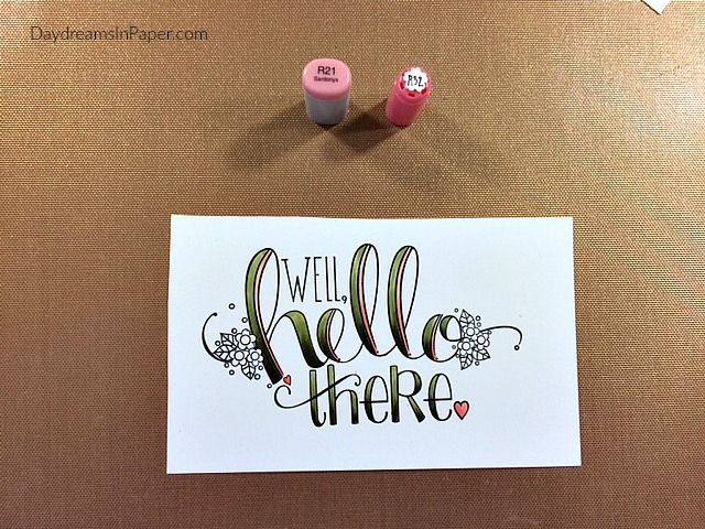 Hello There Stamp Colored with Copic Markers