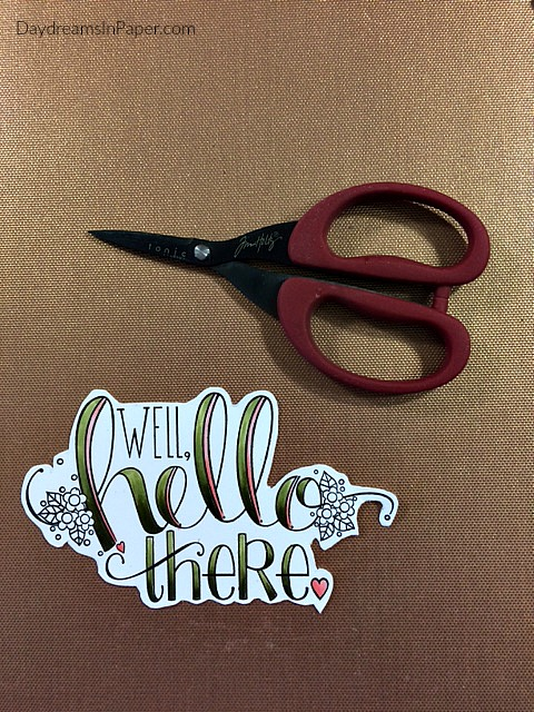Hello There Image Cut Out With Scissors