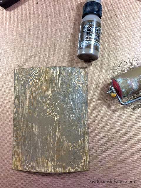 Woodgrain Paper Inked and Painted
