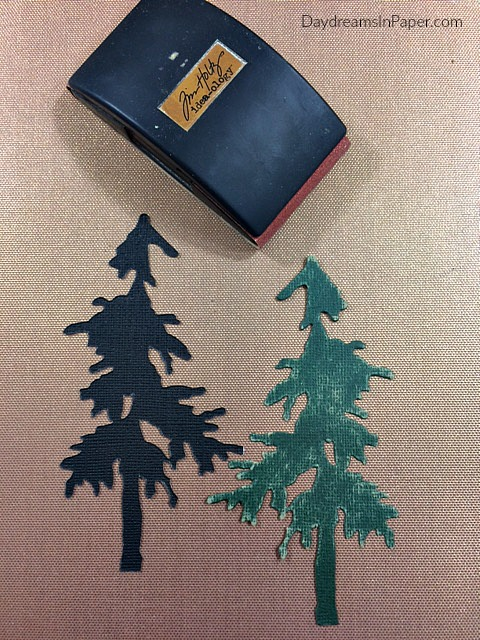 Pine Tree Pieces Created Out Of Paper