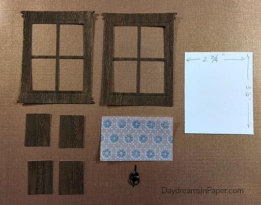Pieces To Create Woodgrain Door