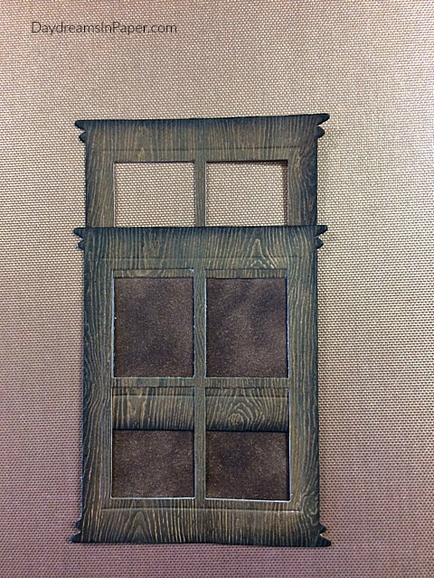 Woodgrain Door Created Out Of Paper