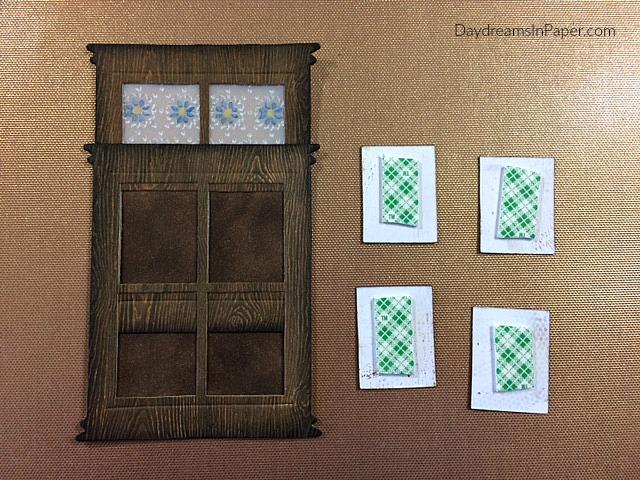 Creating Woodgrain Door Out Of Paper In Progress
