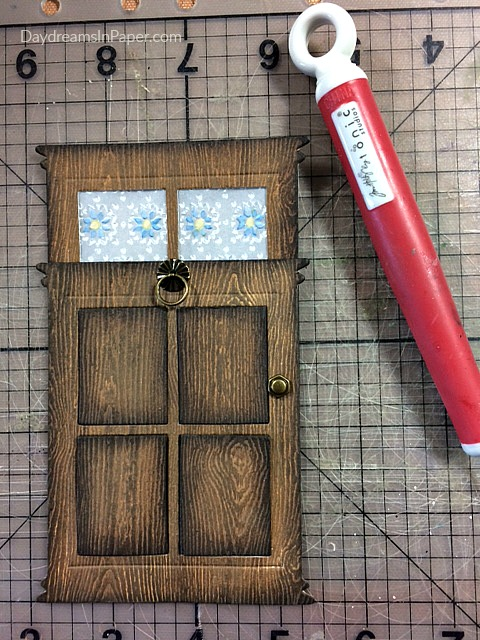 Adding A Doorknob To Woodgrain Door Created Out Of Paper