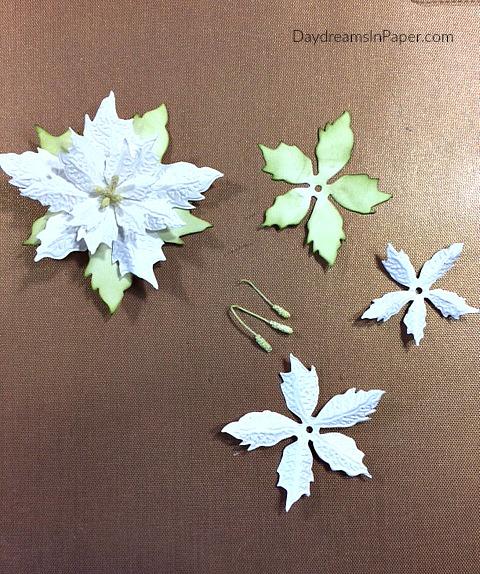 Creating Handmade Poinsettias Step 3