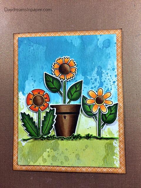 Arranged Flowers on Card Panel