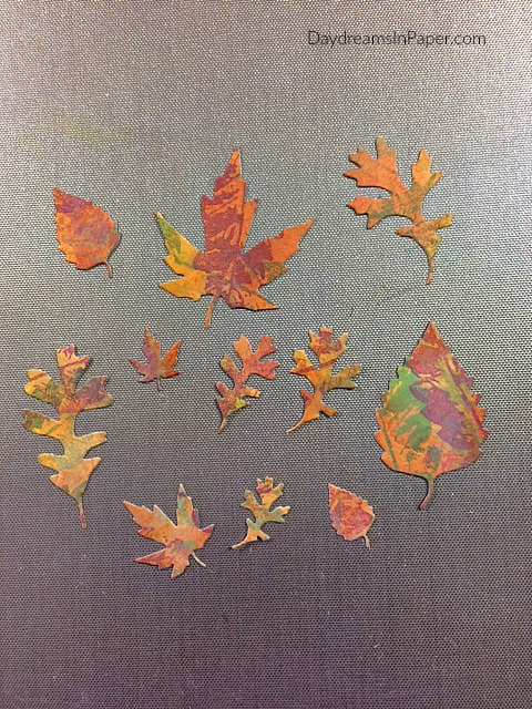 Step Eight - Creating Fall Leaves
