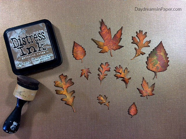 Step Nine - Creating Fall Leaves