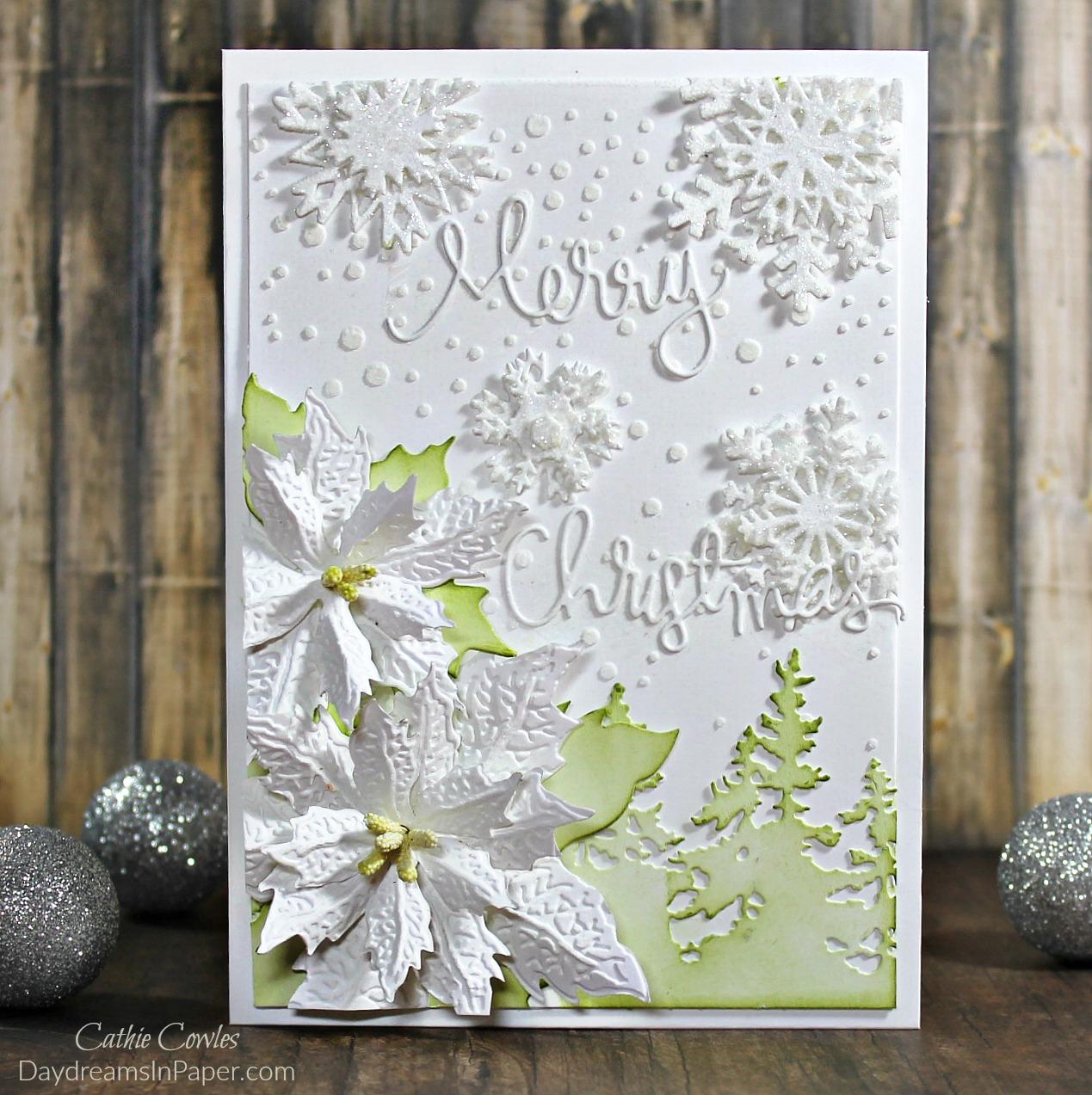 Handmade White Christmas Card