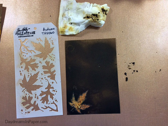 Creating A Background Using Stenciled Rub Away Technique