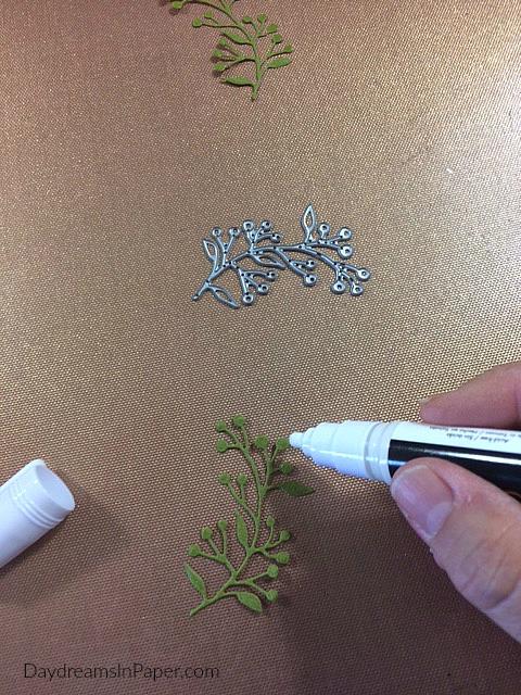 Applying Deco Foil Adhesive Glue to Die Cut Piece