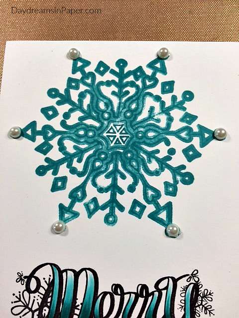 Adding Enamel Dots to Snowflake