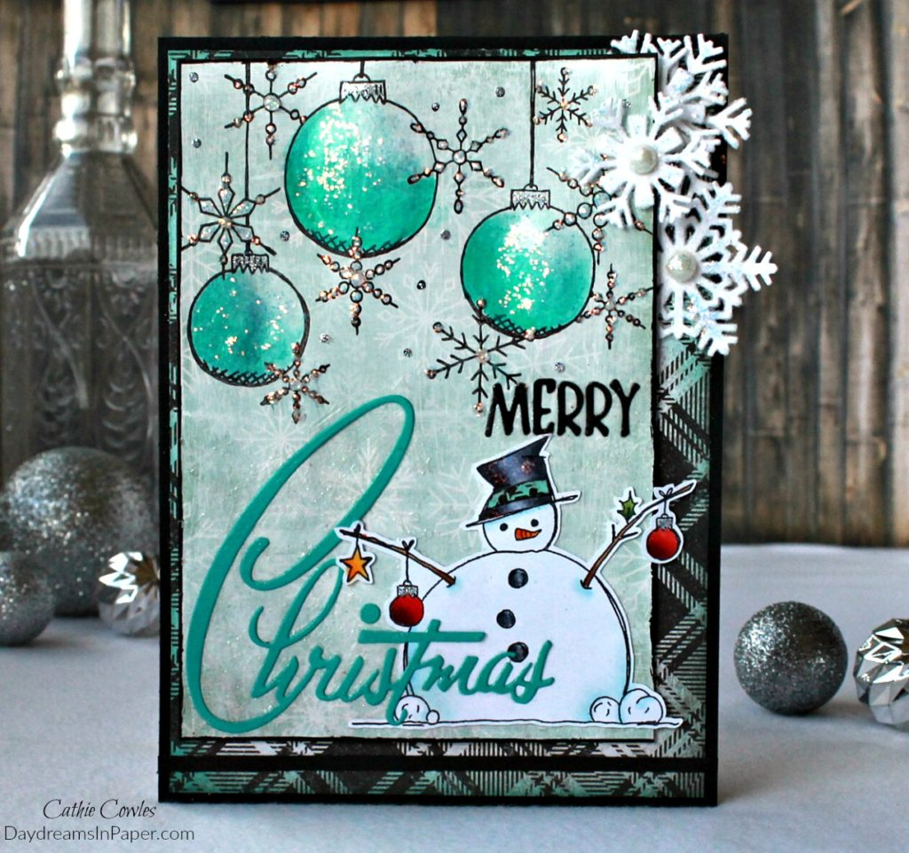 Christmas Card with Paper Artsy Stamps