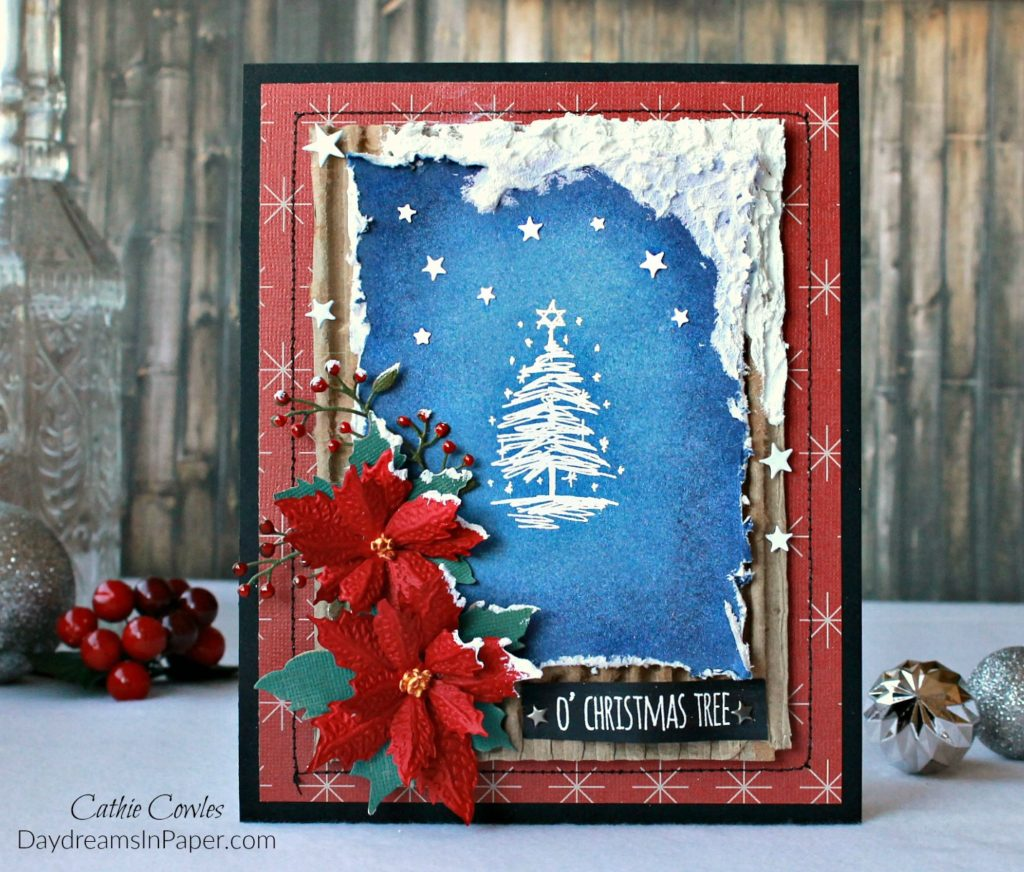 Handmade Snow Scene Christmas Card