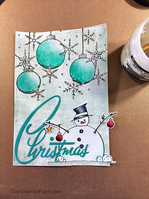 Creating Paper Artsy Christmas Card