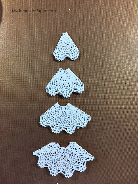 Doily Die Christmas Tree Christmas Card