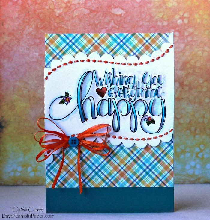 Everything Happy Handmade Card