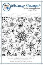 Snow Flurry Background Stamp