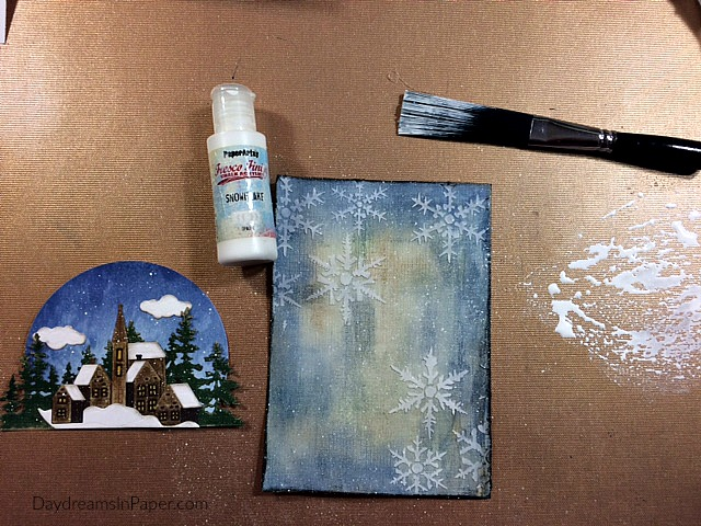 Creating Second Background Scene for Handmade Card Step 8