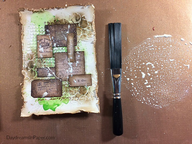 Mixed Media Background Handmade Card Step 12