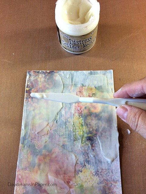 White Gesso Resist Technique on Handmade Card - Step 3