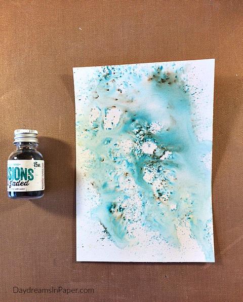 Handmade Card with Carabelle Studio Flower Stamp - Step 2