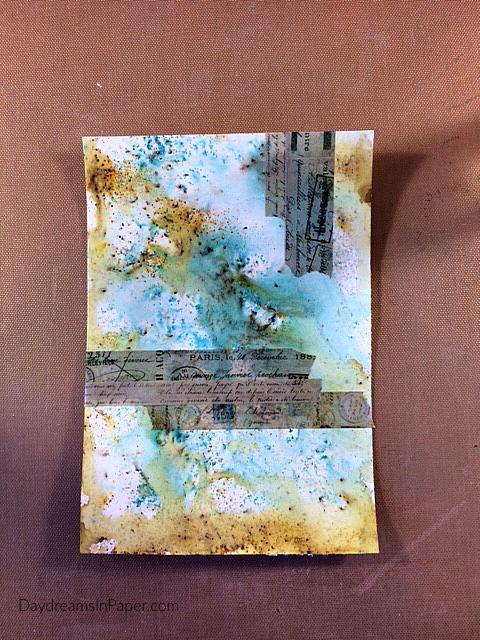 Handmade Card with Carabelle Studio Flower Stamp - Step 4