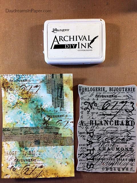 Handmade Card with Carabelle Studio Flower Stamp - Step 5