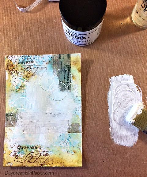 Handmade Card with Carabelle Studio Flower Stamp - Step 6