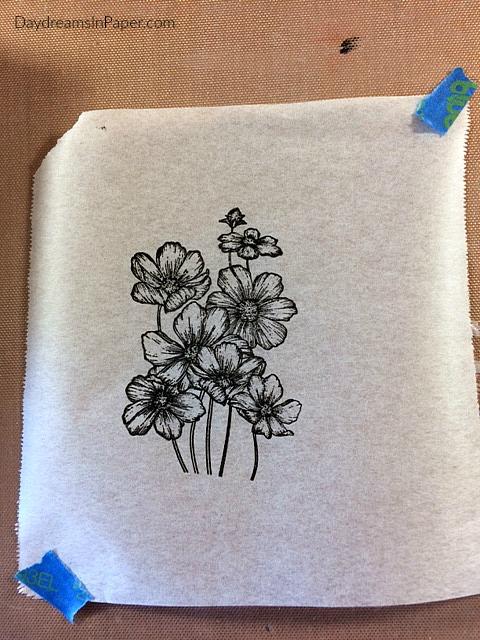 Handmade Card with Carabelle Studio Flower Stamp - Step 7