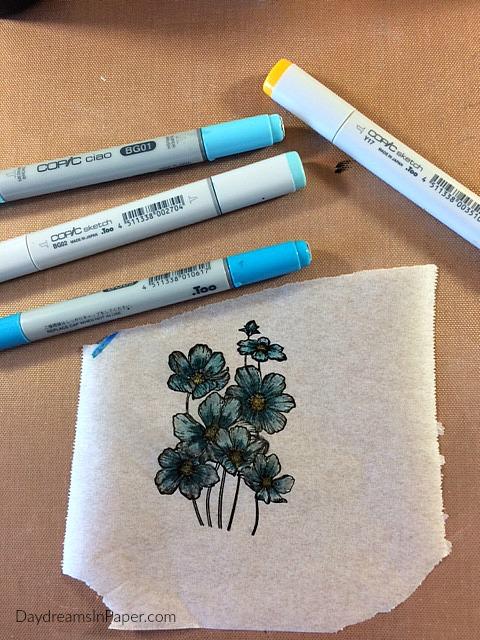 Handmade Card with Carabelle Studio Flower Stamp - Step 8