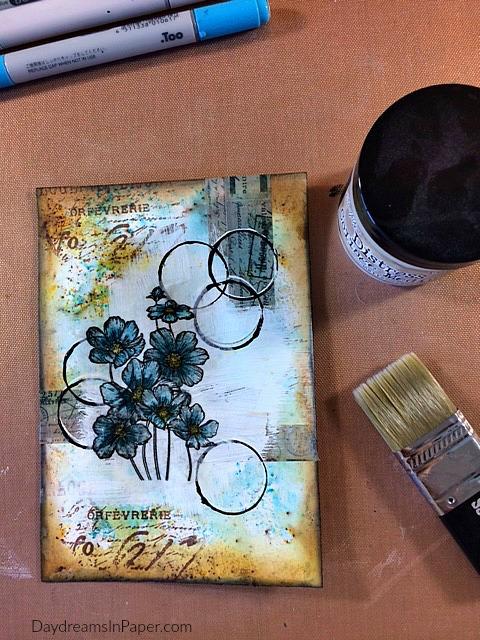Handmade Card with Carabelle Studio Flower Stamp - Step 9