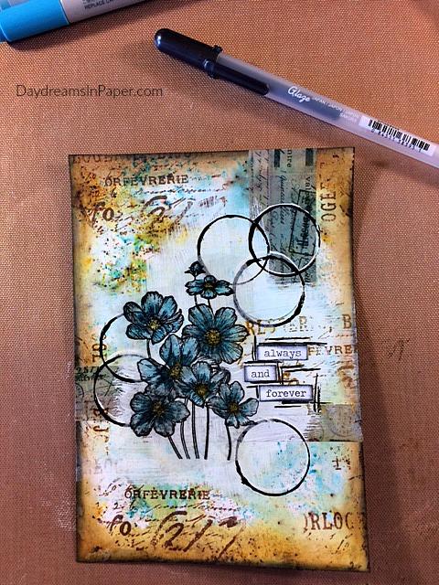 Handmade Card with Carabelle Studio Flower Stamp - Step 10
