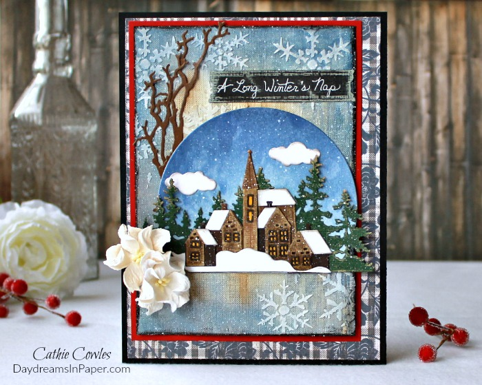 Handmade Card for Simon Says Stamp Winter Blues Challenge