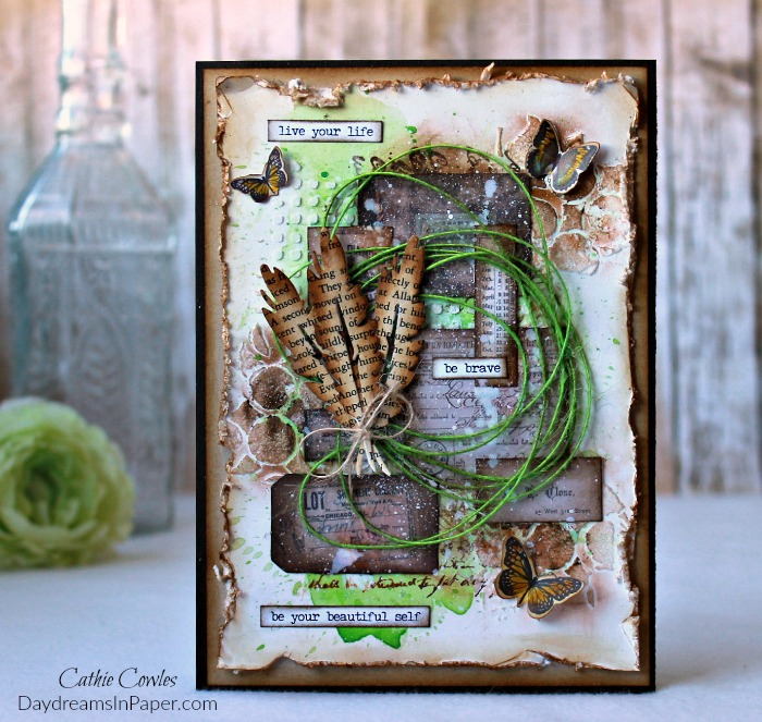 Mixed Media Background Handmade Card
