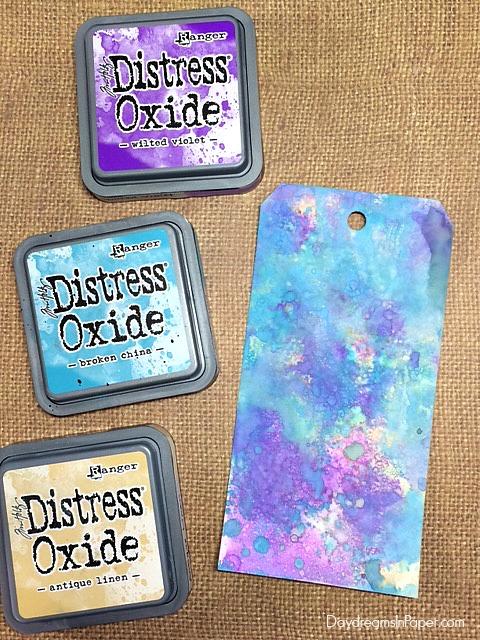 Distress Oxide - Wilted Violet, Broken China, Antique Linen